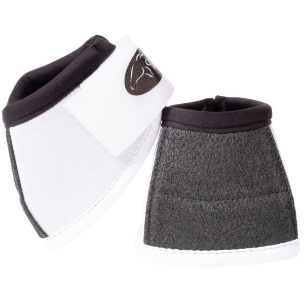Ortho Equine NO-TURN Kevlar Bell Boots in White