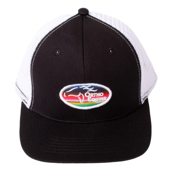 Team Ortho Equine Hat in Black/White