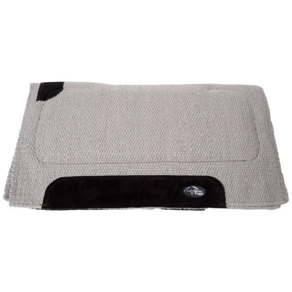 New Zealand Merino Blanket Saddle Pad in Gray