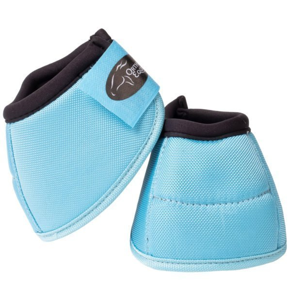 Ortho Equine NO-TURN Bell Boots in Light Blue
