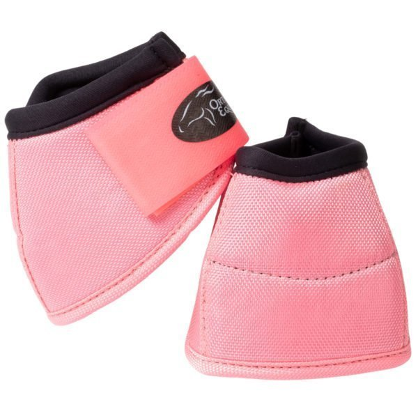 Ortho Equine NO-TURN Bell Boots in Pink