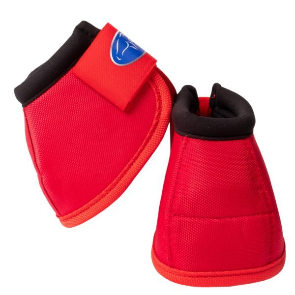 Ortho Equine NO-TURN Bell Boots in Red