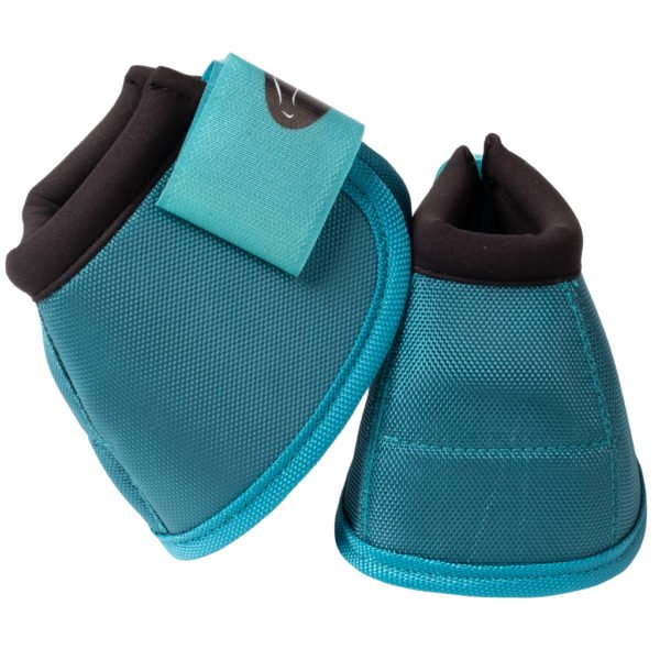Ortho Equine NO-TURN Bell Boots in Teal