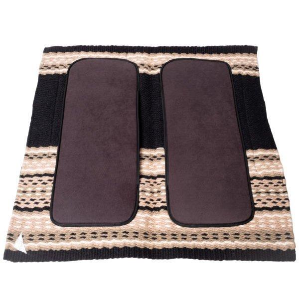 New Zealand Merino Blanket Saddle Pad in Tan/Black