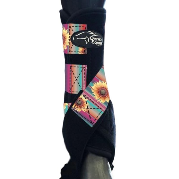 Sunflower Print Ortho Equine Total Comfort Equine Boot